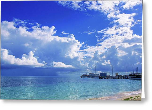 Massive Caribbean Clouds Greeting Card