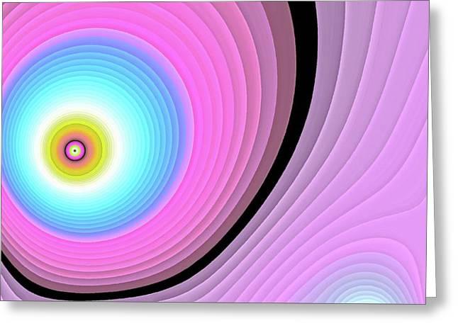 Massive Hurricane Pink Greeting Card