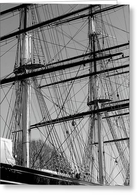Masts And Rigging Of The Cutty Sark Greeting Card