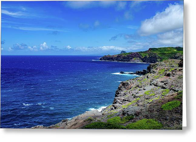 Greeting Card featuring the photograph Maui Coast by Jeff Phillippi
