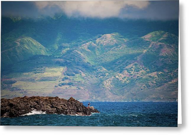 Maui Fisherman Greeting Card