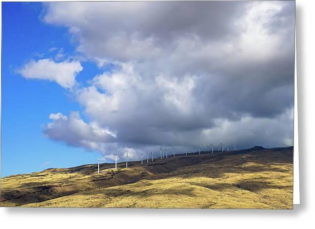 Maui Windmills Greeting Card