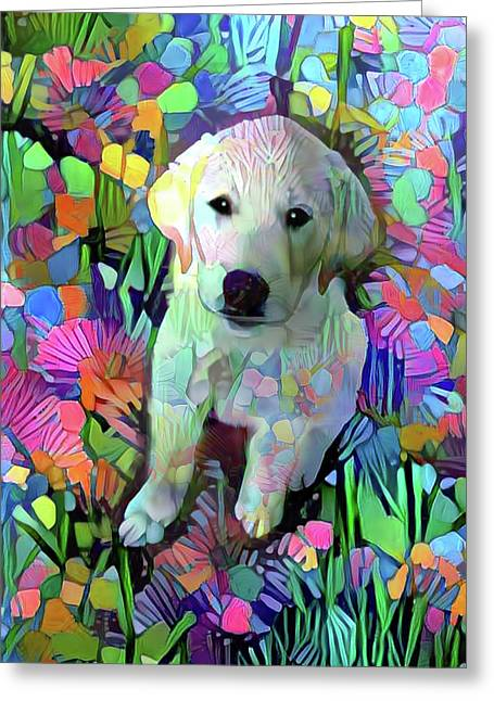 Max In The Garden Greeting Card