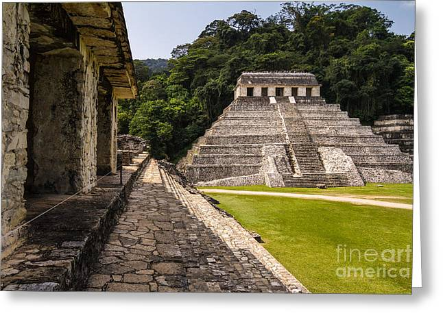 Mayan Ruins In Palenque, Chiapas Greeting Card