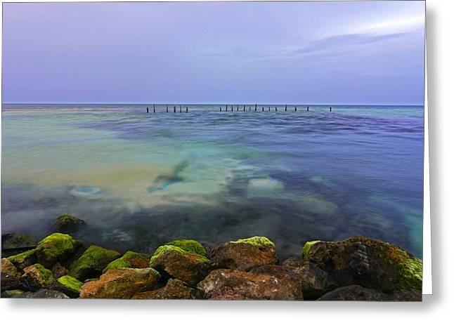 Mayan Sea Rocks Greeting Card