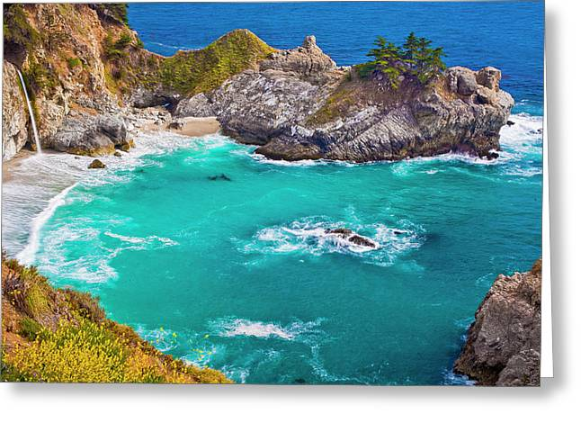 Mcway Falls Greeting Card by Fernando Margolles
