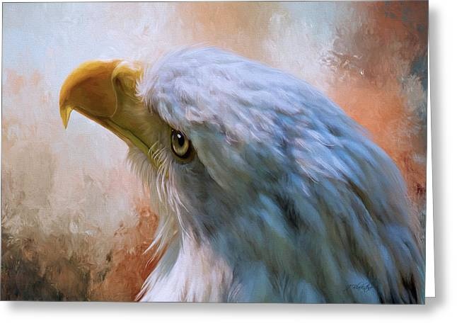 Greeting Card featuring the photograph Meant To Be - Eagle Art by Jordan Blackstone