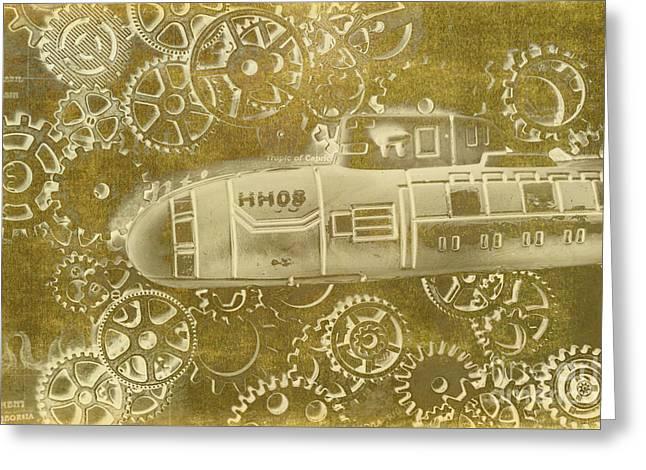 Mechanical Sub Specs Greeting Card