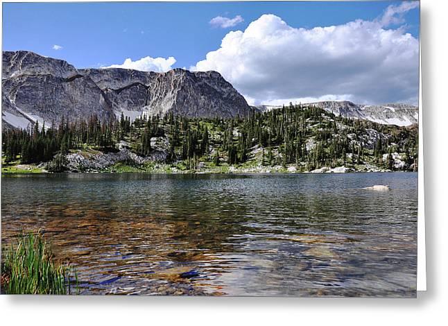 Medicine Bow Peak And Mirror Lake Greeting Card