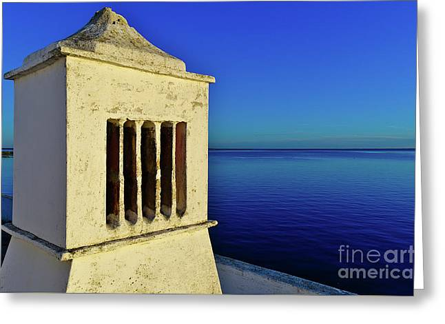 Mediterranean Chimney In Algarve Greeting Card