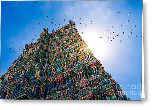 Meenakshi Hindu Temple In Madurai Greeting Card