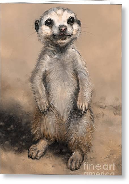 Meercat Greeting Card