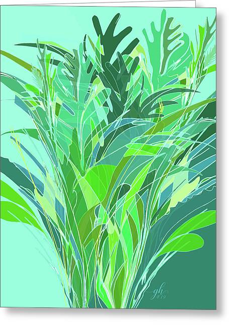 Greeting Card featuring the digital art Melange by Gina Harrison