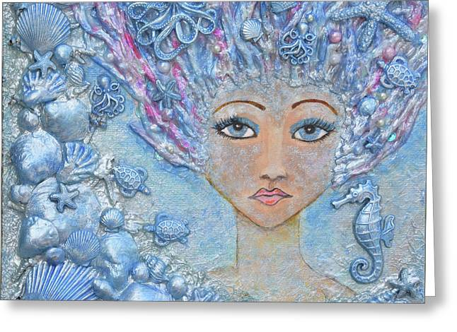 Mermaid Lady Greeting Card