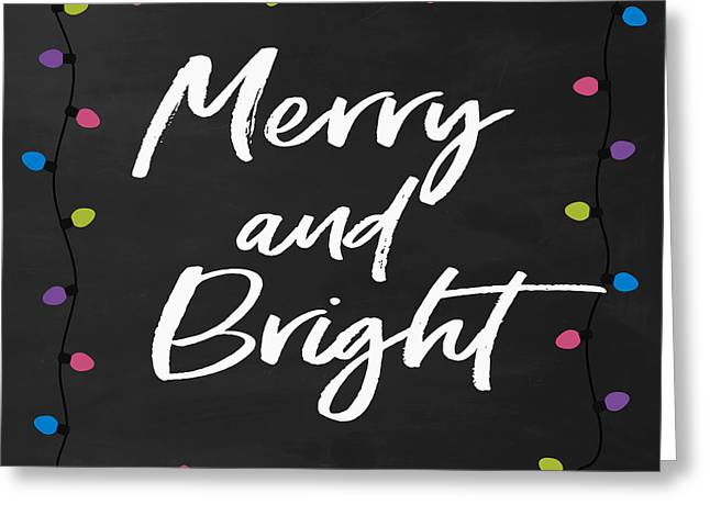 Greeting Card featuring the digital art Merry And Bright 2- Art By Linda Woods by Linda Woods