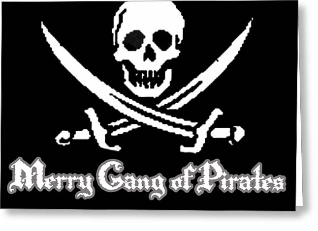 Merry Gang Of Pirates Greeting Card