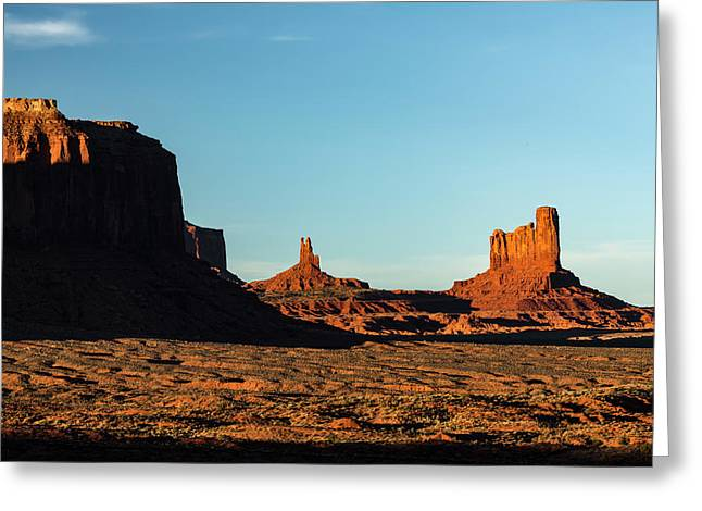 Mesa At Sunset, Monument Valley Tribal Greeting Card by Adam Jones