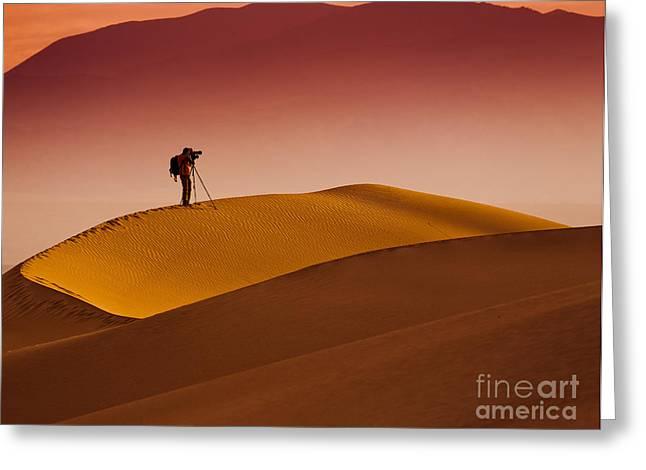 Mesquite Flat Dunes At Death Vakkey Greeting Card