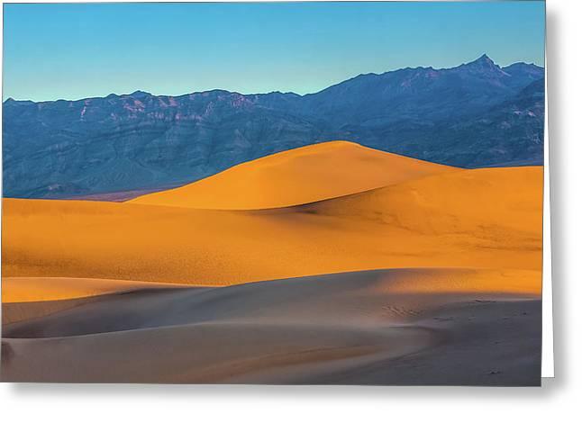 Mesquite Flats Sunsrise Greeting Card