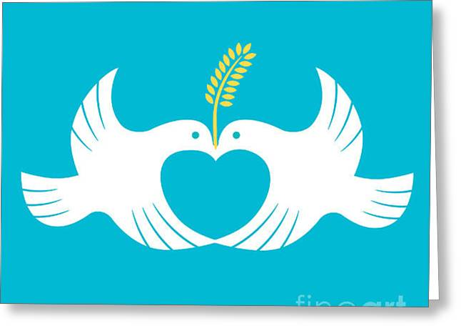 Messenger Of Love And Peace Greeting Card