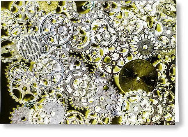 Metallic Motor Mechanisms Greeting Card