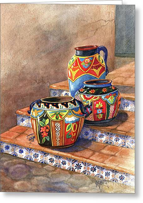 Mexican Pottery Still Life Greeting Card