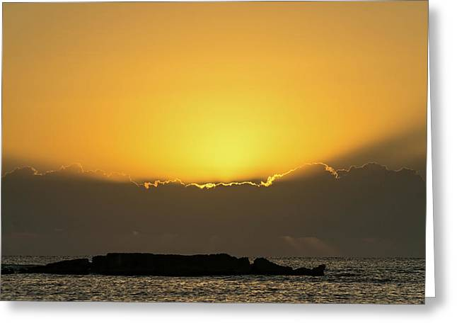 Mexico Ocean Sunrise Greeting Card