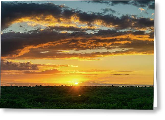 Mexico Sunset Full Greeting Card