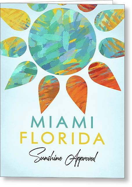 Miami Florida Sunshine Greeting Card