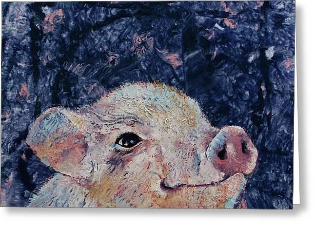 Micro Pig Greeting Card