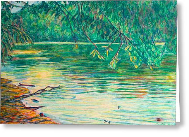 Mid-spring On The New River Greeting Card