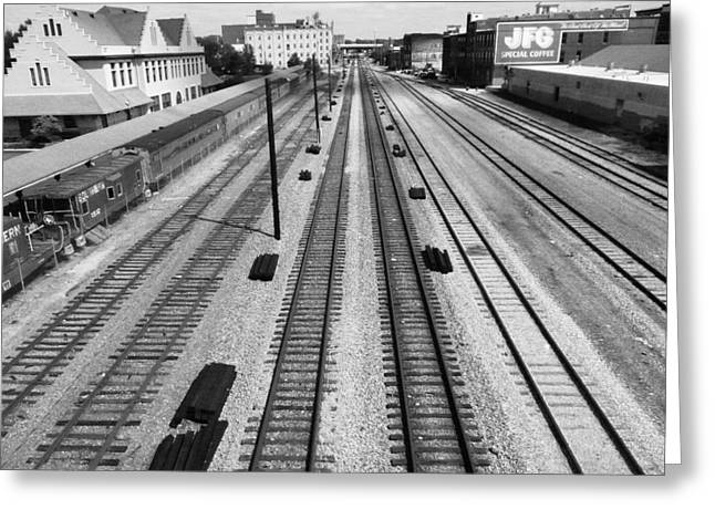 Middle Of The Tracks Greeting Card