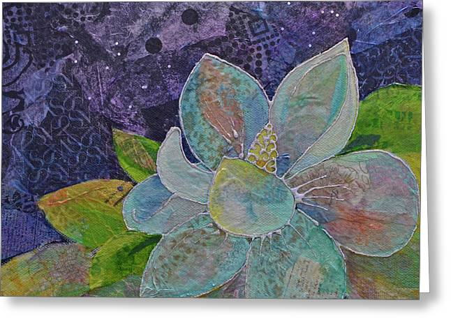 Midnight Magnolia II Greeting Card