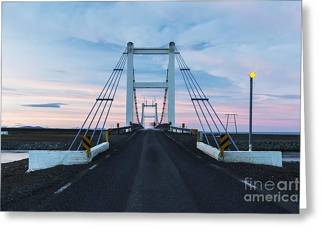 Midnight Photo Of The Bridge With The Greeting Card