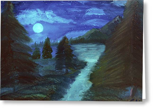 Midnight River Greeting Card