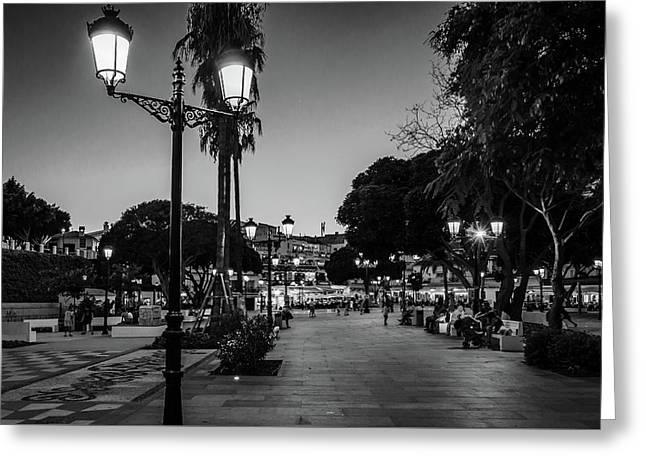 Mijas Main Square Greeting Card