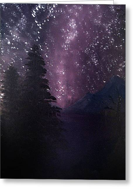 Milky Way Lake Greeting Card