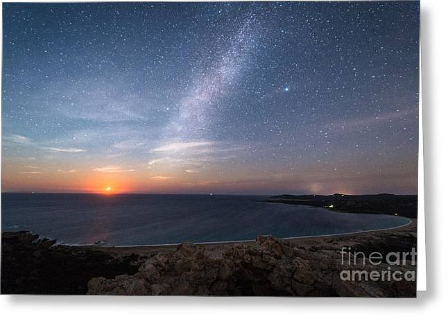 Milky Way On The Beach Greeting Card