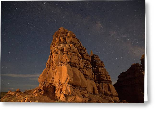 Milky Way On The Rocks Greeting Card