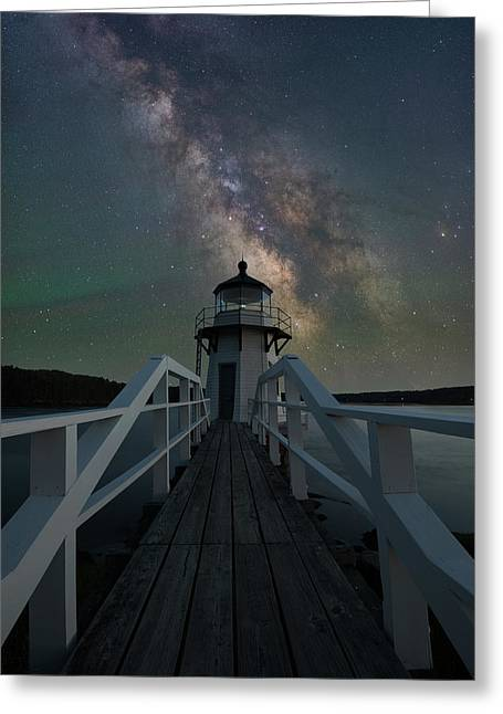 Milky Way Over Doubling Point Greeting Card