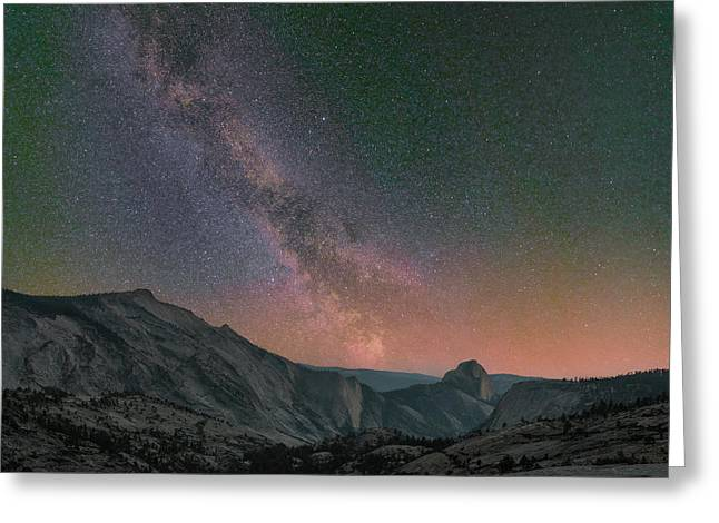 Milky Way Over Half Dome, Yosemite Greeting Card