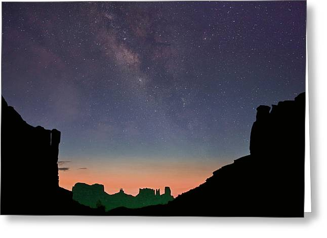 Milky Way Over Monument Valley, Arizona Greeting Card