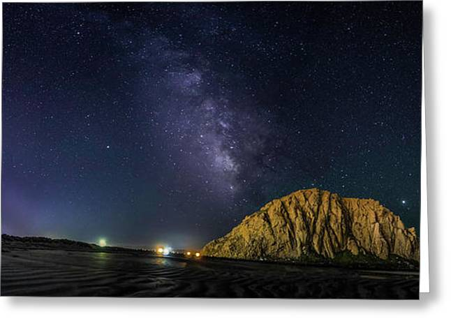 Milky Way Over Morro Rock Greeting Card