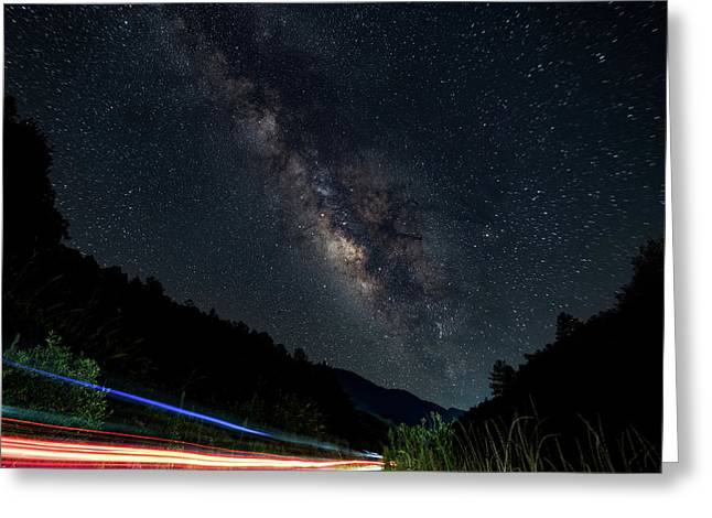 Milky Way Over The South Road Greeting Card