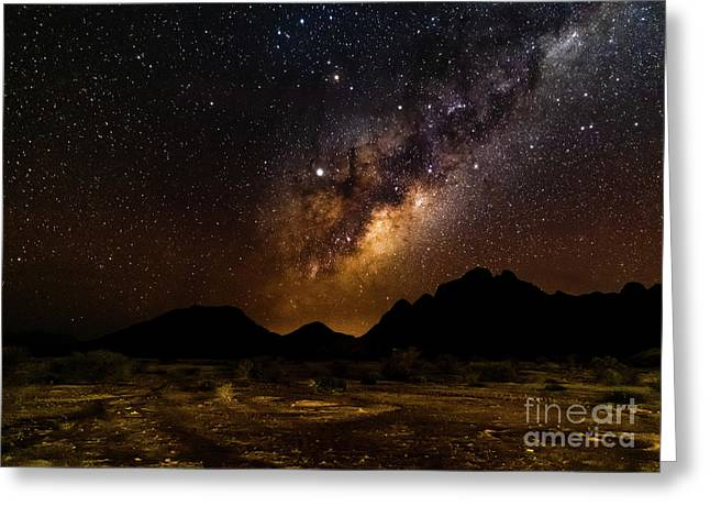 Milkyway Over Spitzkoppe 2, Namibia Greeting Card