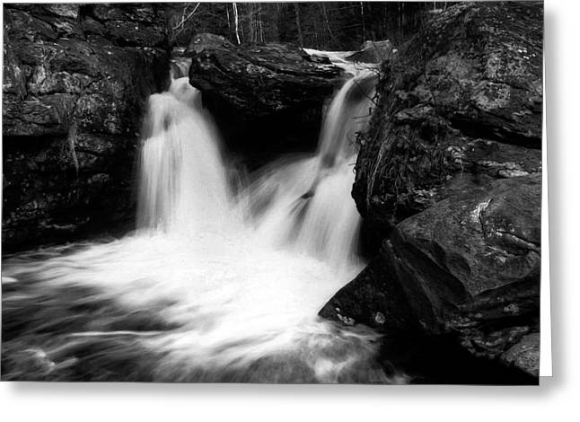 Greeting Card featuring the photograph Mill Falls Monochrome by Wayne King