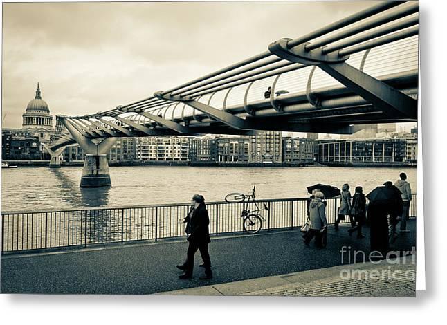 Millennium Bridge 03 Greeting Card