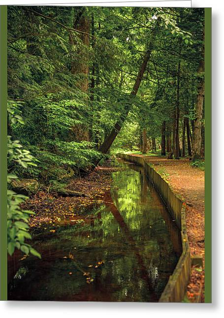 Millrace By John Cable Greeting Card
