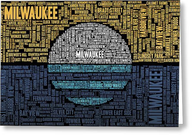 Milwaukee Neighborhood Word Cloud Greeting Card