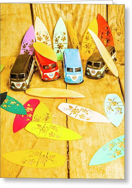 Mini Van Adventure Greeting Card